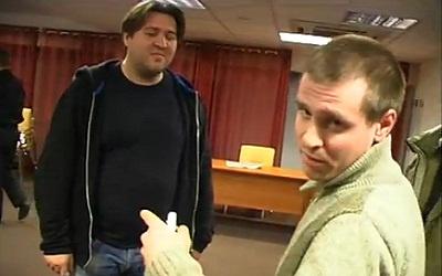 Александр Гремин (слева) и Сергей Красильников (справа) во время инцидента
