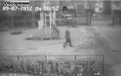 кадр видеозаписи в день исчезновения Душкова