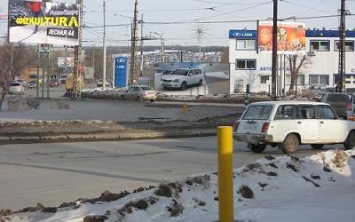 Фрагмент кольца в Комсомольском районе на пересечении улиц Громовой и Ярославской