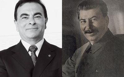 Карлос Гон (слева) и Иосиф Сталин (справа)