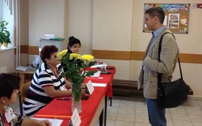Сергей Андреев на выборах, фото с личной страницы vkontakte
