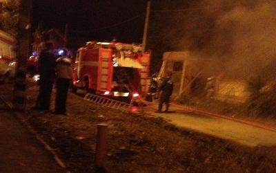 Фото с места пожара, опубликовано в vk.com/avtomobilnaya_stolica