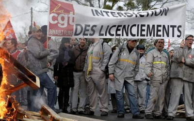 Забастовка рабочих Renault во Франции, фото mpra.info